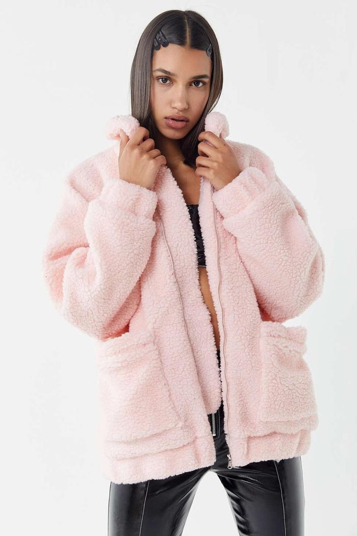 Shop The Teddy Bear Coat Trend Who What Wear