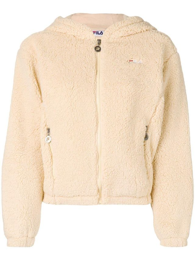 faux-shearling hooded jacket