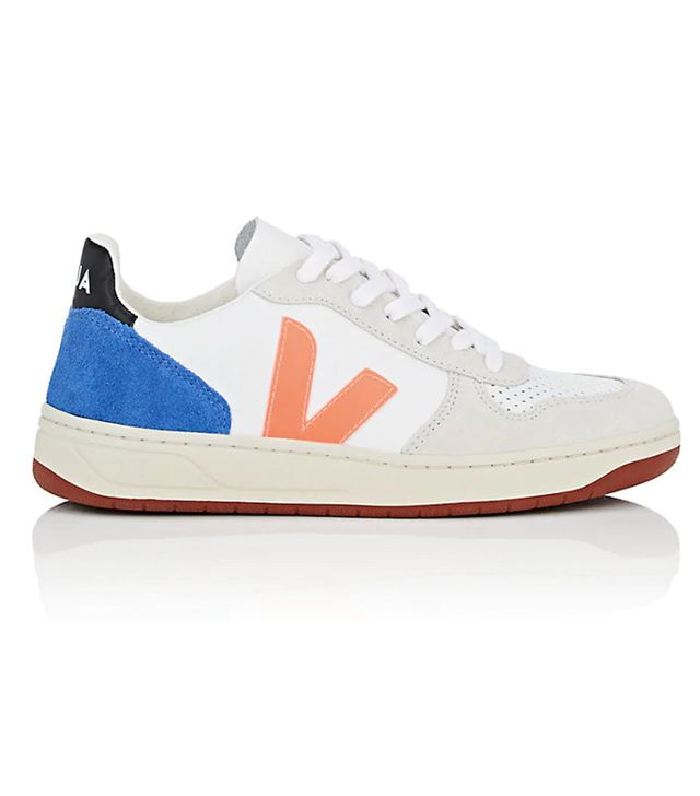 Women's V-10 Leather & Suede Sneakers - White Size 8