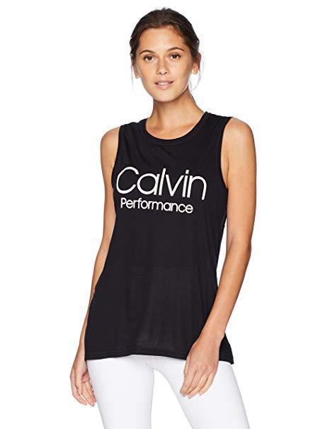 Calvin Klein Performance Women's Epic Knit Racerback Seam Tank