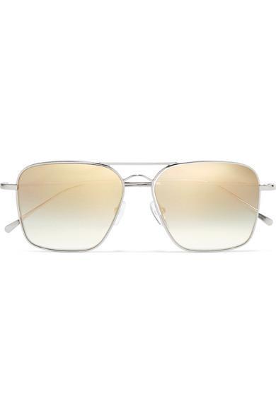 Illesteva Milos Aviator-Style Metal Sunglasses