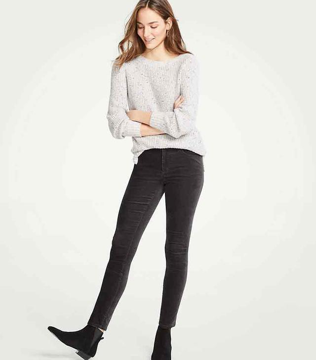 Ann Taylor Modern Velvet Skinny Jeans