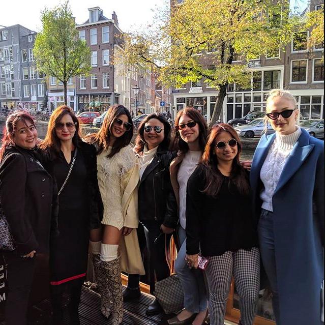 Priyanka Chopra Bachelorette Group Outfits