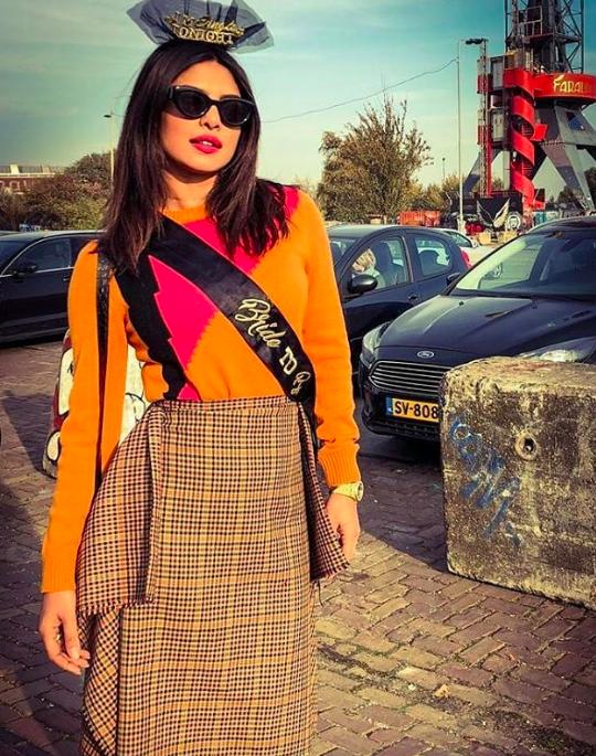 Priyanka Chopra Bachelorette Party Outfit