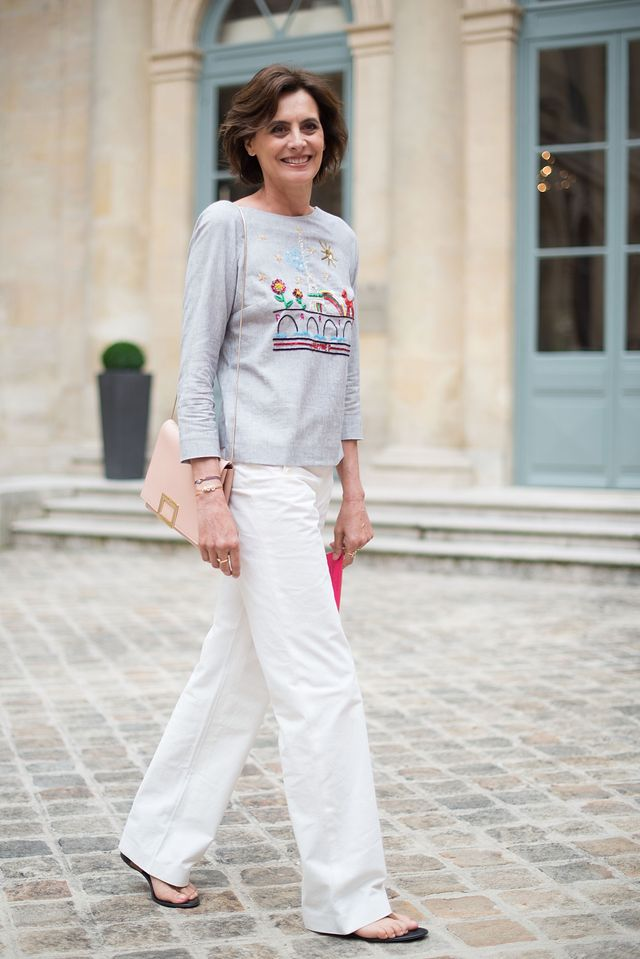 """<p><em>Fressange at Paris Fashion Week FW16/17.</em></p> <h5><strong>Never say never in fashion</strong></h5> <p>""""What I've learned about trends is that everything is possible. The things..."""