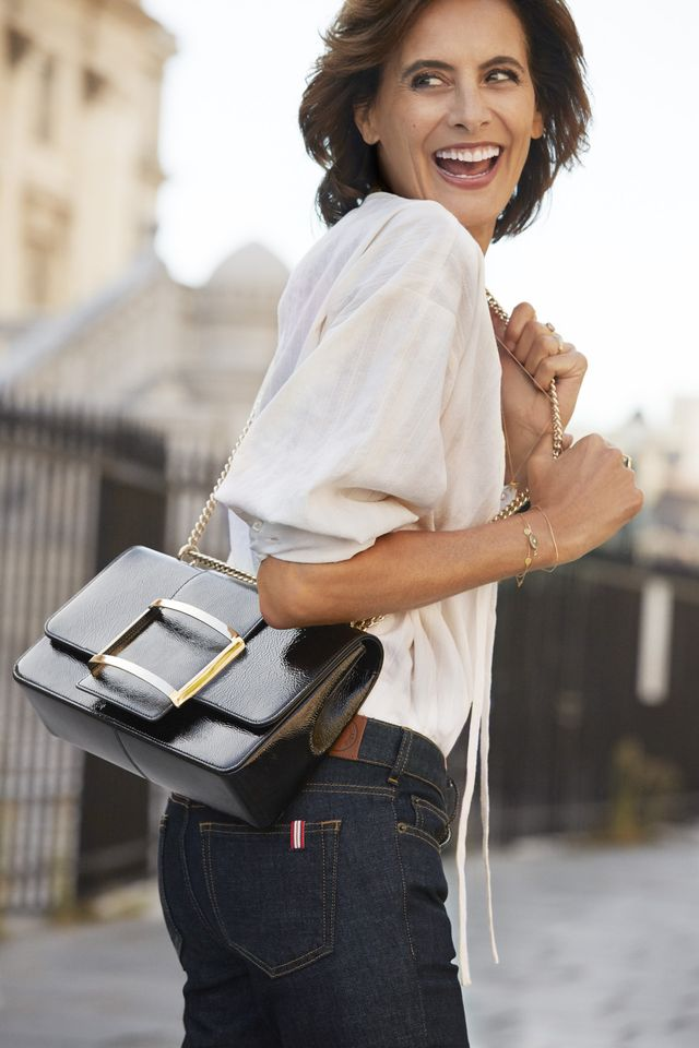 """<p><em>Fressange in the Roger Vivier Summer 2019 campaign.</em></p> <h5><strong>You don't always have to wear new-season pieces</strong></h5> <p>""""French people, they keep things they love. In..."""