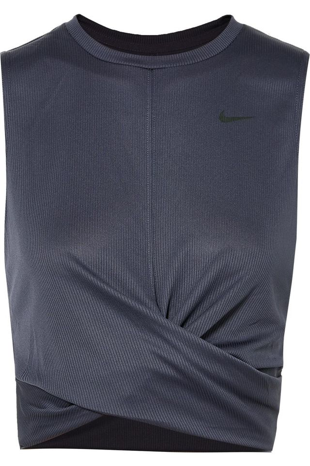 Cropped Twisted Ribbed Dri-Fit Tank