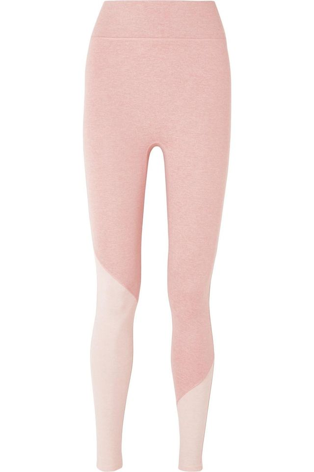 The Synergy Two-Tone Stretch-Jersey Leggings