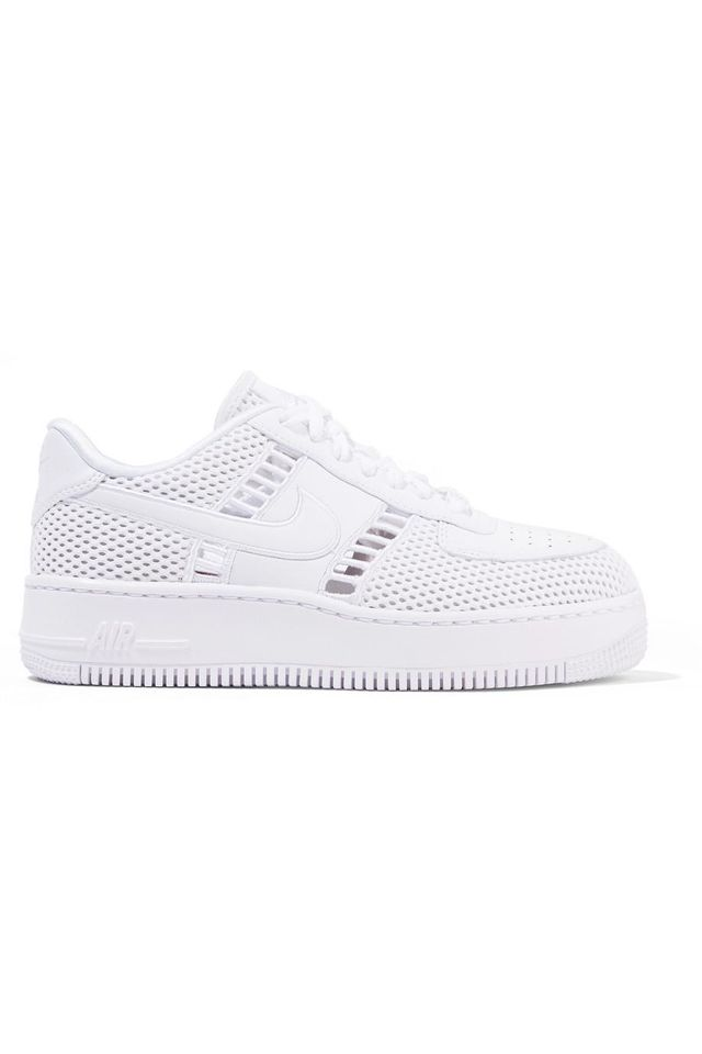 Air Force I Upstep Leather and Mesh Sneakers