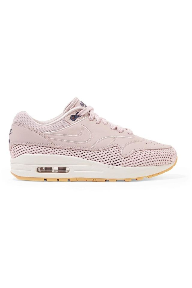 Air Max 1 SI Leather and Mesh Sneakers
