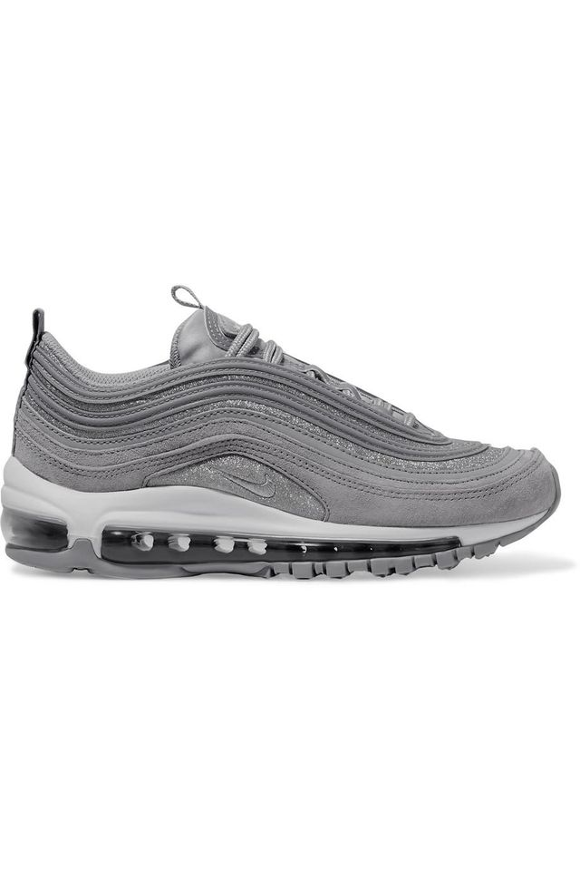 Air Max 97 Glittered Leather and Suede Sneakers