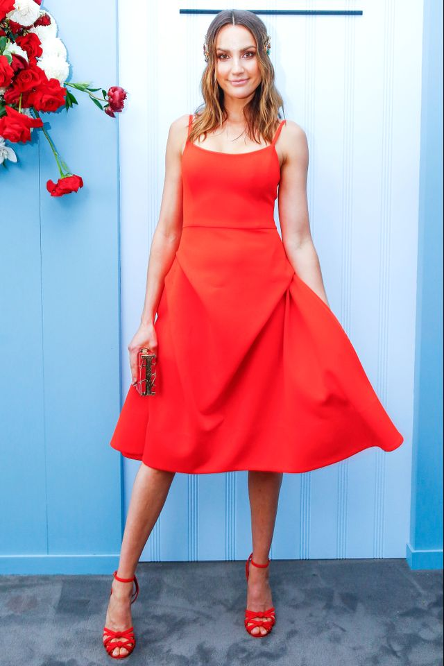 """<p>Rachael Finch wearing an<a href=""""https://www.elliattcollective.com.au/"""" target=""""_blank""""> Elliat</a> dress and a<a href=""""http://ladyofleisuremillinery.com/"""" target=""""_blank"""">Lady of Leisure..."""