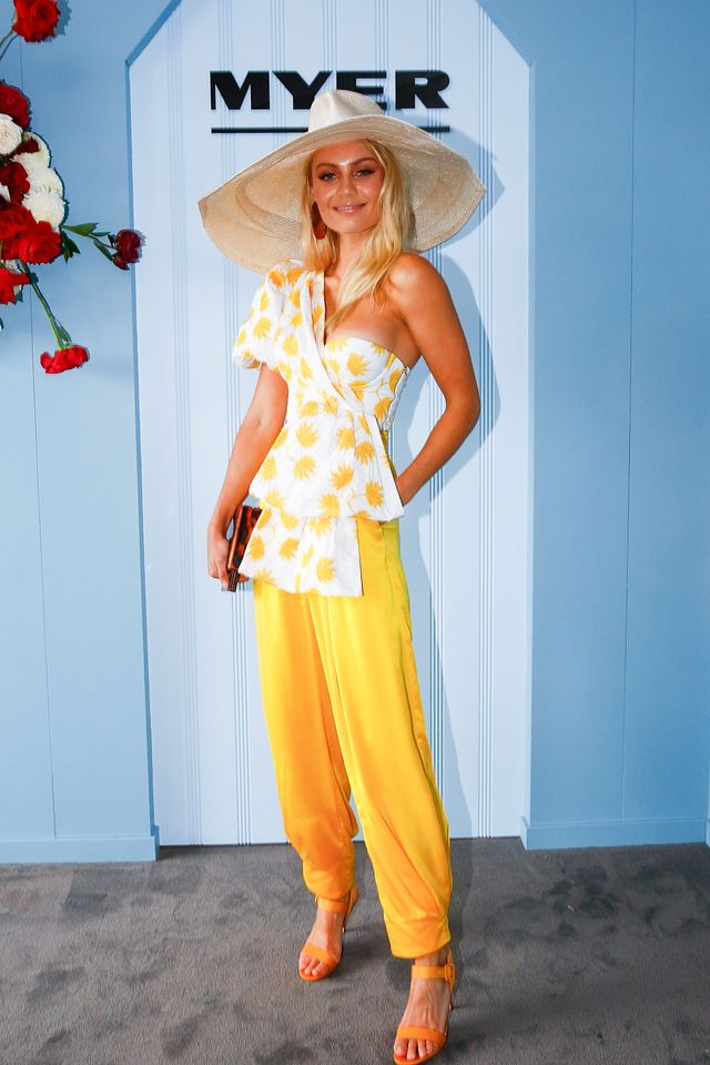 """<p>Elyse Knowles wearing <a href=""""https://shopacler.com/"""" target=""""_blank"""">Acler </a>top and pants, <a href=""""https://valetstudio.com/collections/bags-from-respiro-studio"""" target=""""_blank"""">Respiro..."""