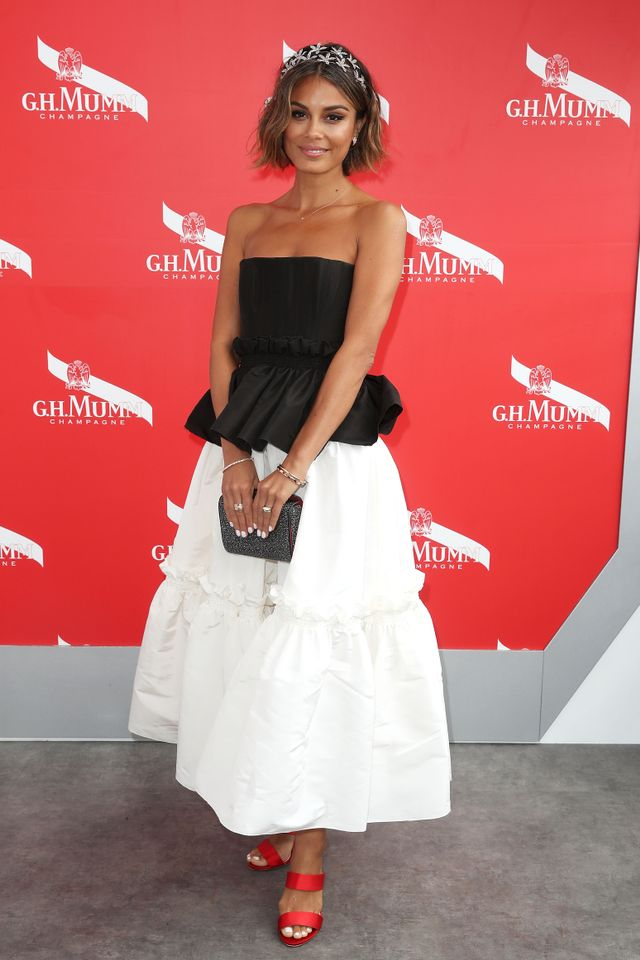 """<p>Nathalie Kelley wearing an<a href=""""https://www.alexperry.com.au/"""" target=""""_blank"""">Alex Perry</a> dress, Bvlgari jewellery and a<a href=""""https://have2have.it/jenniferbehr""""..."""