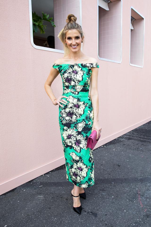 "<p>Kate Waterhouse wearing a<a href=""https://www.net-a-porter.com/au/en/product/1085117/Miu_Miu/ruched-floral-print-silk-blend-cloque-midi-dress"" target=""_blank"">Miumiu dress</a> and a<a..."