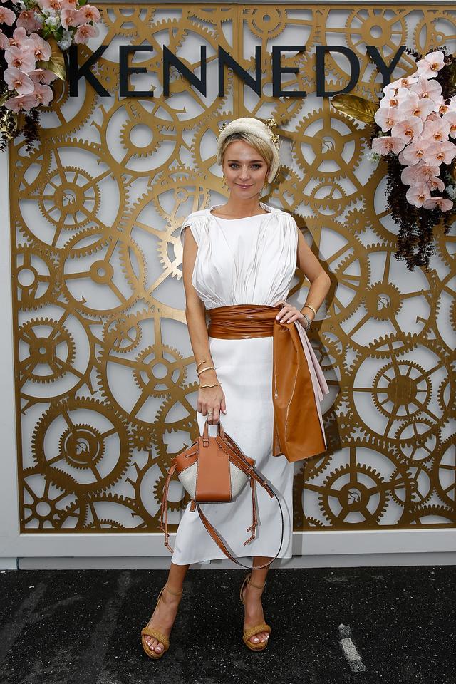 "<p>Nadia Fairfax wearing a<a href=""https://www.camillaandmarc.com/steinem-midi-dress-white.html"" target=""_blank"">Camilla and Marc dress</a>,<a href=""https://www.loewe.com/eur/en/home""..."