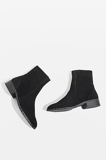 KASH Leather Sock Boots