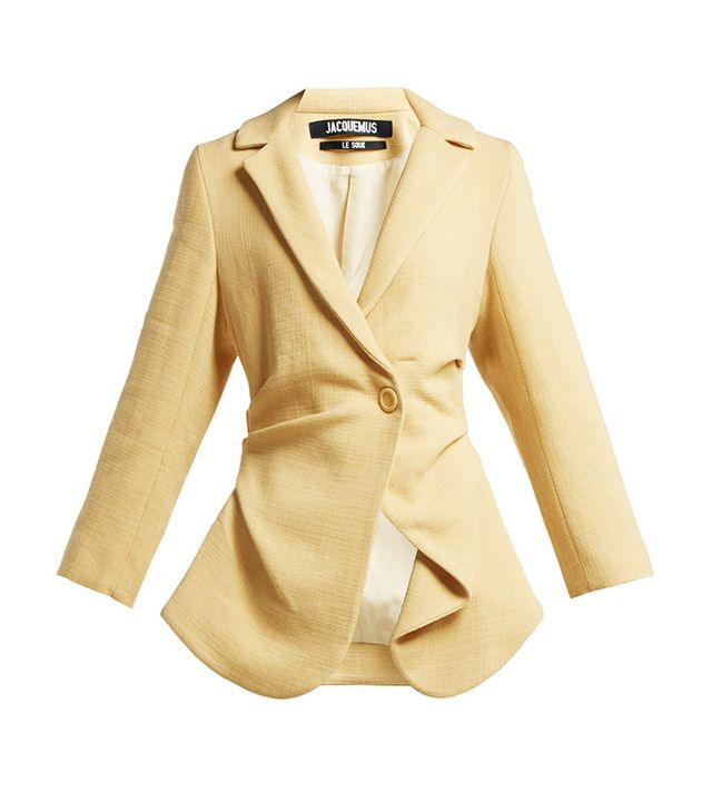 Jacquemus Saad Gathered Wool-Blend Blazer