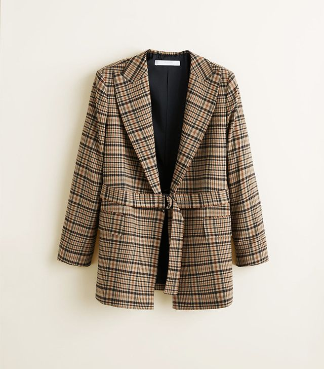 Mango Structured Wool Blazer