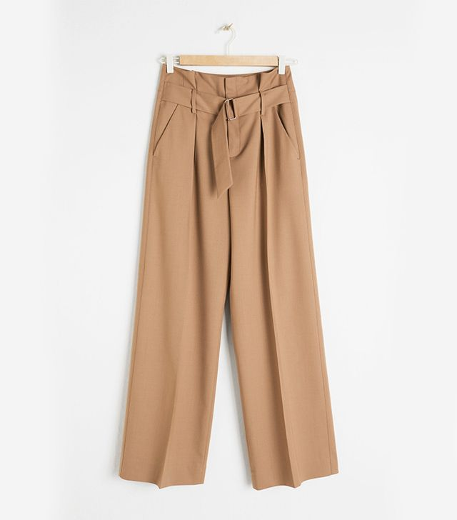 & Other Stories Wool Blend Trousers
