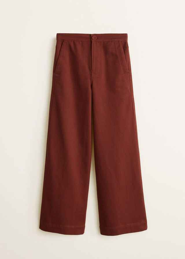Mango Cotton Trousers