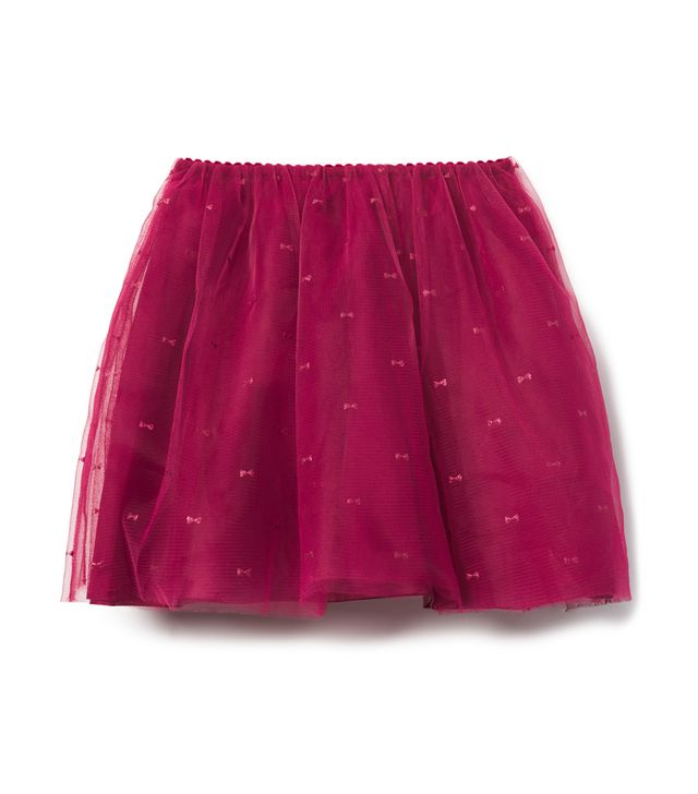 Janie and Jack Shimmer Bow Tulle Skirt
