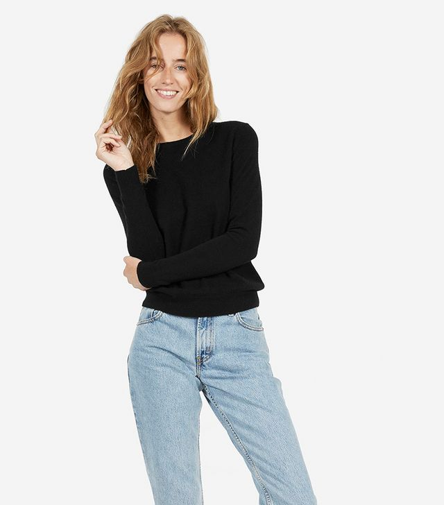Cashmere Crew Sweater by Everlane in Black