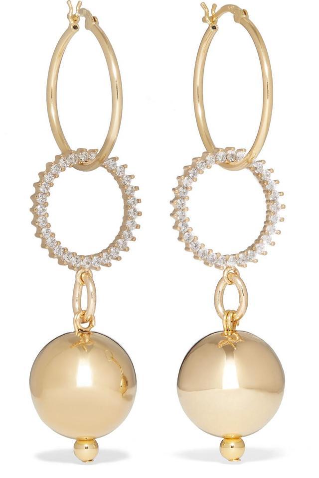 Continium Gold-tone Cubic Zirconia Earrings
