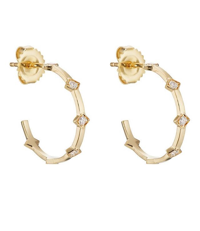 Women's Illuminate Hoop Earrings - Gold