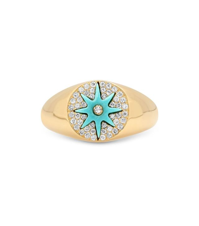 Colette Star Signet Turquoise Ring
