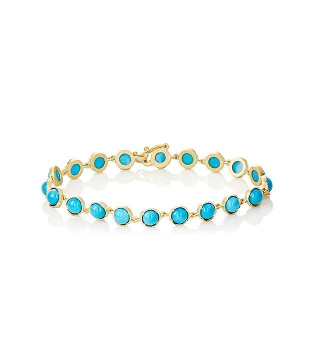 Gemstone Round-Link Bracelet