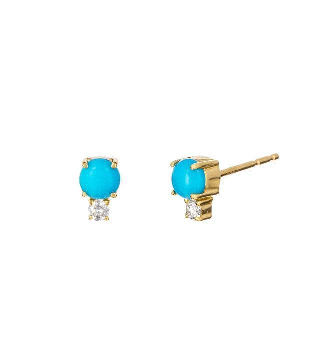 Jemma Wynne Turquoise and Diamond Prive Earrings
