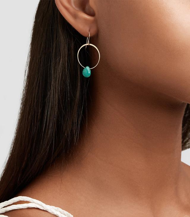 14-Karat Gold Turquoise Earrings