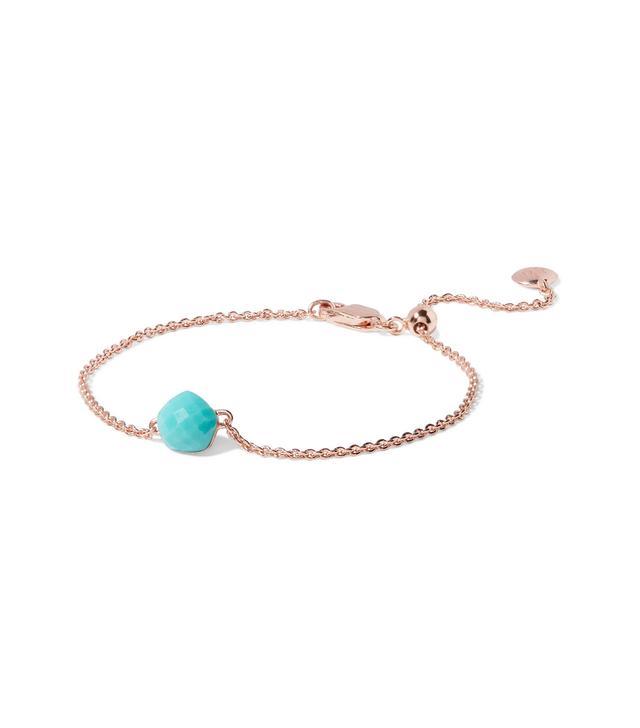 Nura Mini Nugget Rose Gold Vermeil Turquoise Bracelet