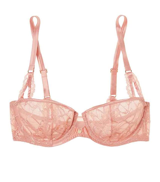Segur Satin-trimmed Lace And Tulle Underwired Bra