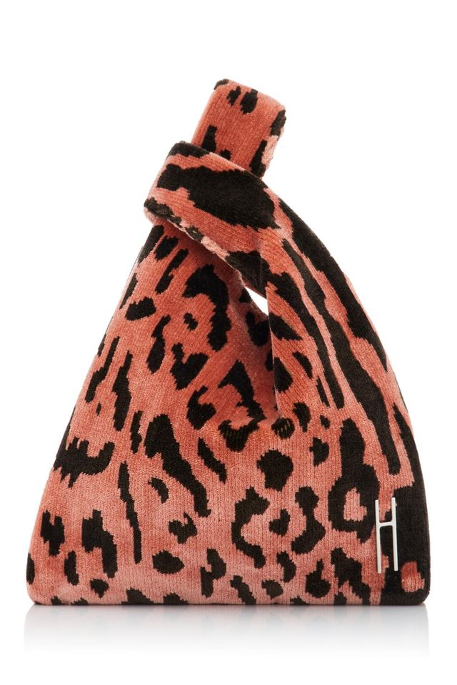 Mini Leopard Brocade Tote