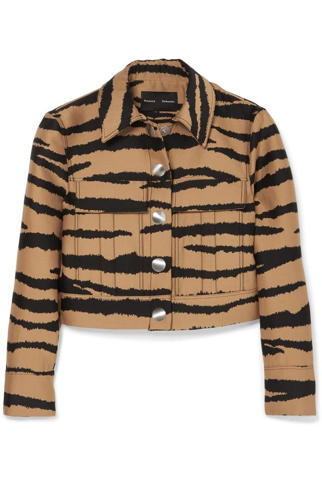 Tiger-Print Wool and Silk-Blend Jacquard Jacket