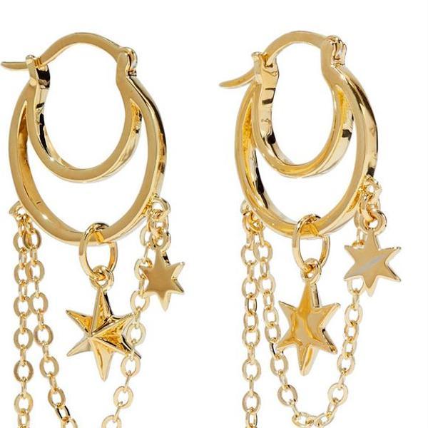 Nior Jewelry Gold-tone Hoop Earrings