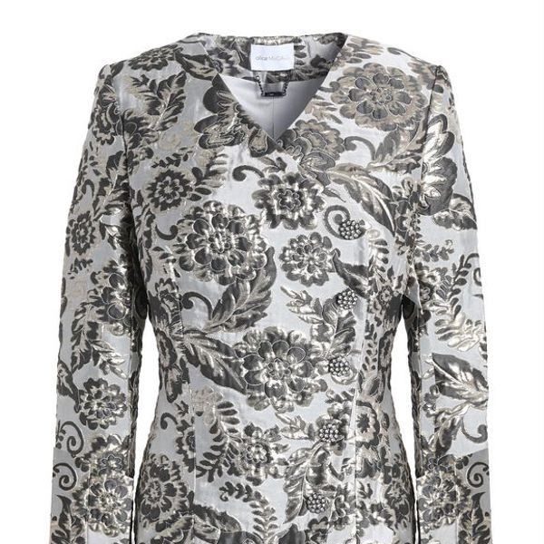 Alice Mccall Bold And The Beautiful Feather-trimmed Brocade Jacket