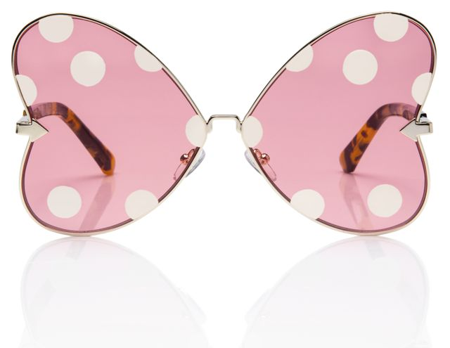 Disney x Karen Walker Minnie Bow White Spot Sunglasses