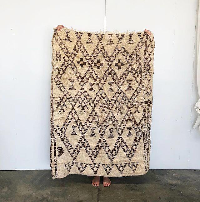 Moroccan Vintage Beni Ourain Rug