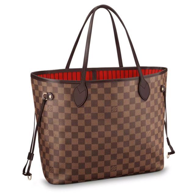 Louis Vuitton Neverfull MM Leather Handbag