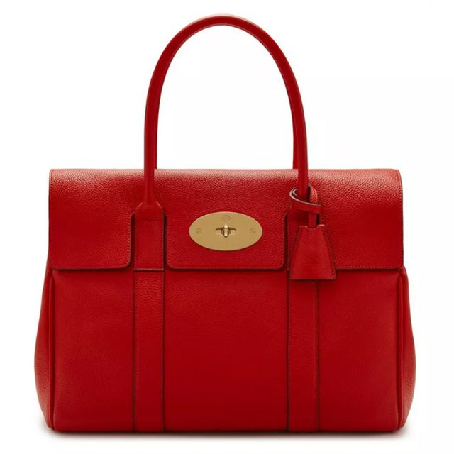 Mulberry Heritage Bayswater Ruby Red Classic Grain