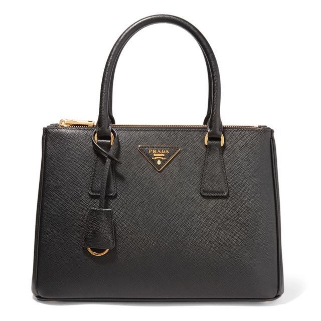 Prada Galleria Medium Textured-Leather Tote 160