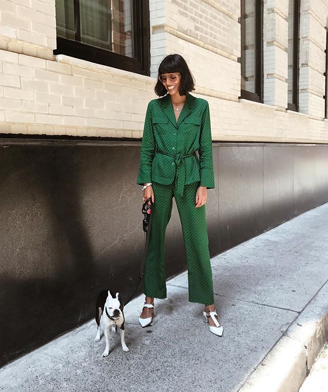 casual pantsuit for a New Year's Eve outfit