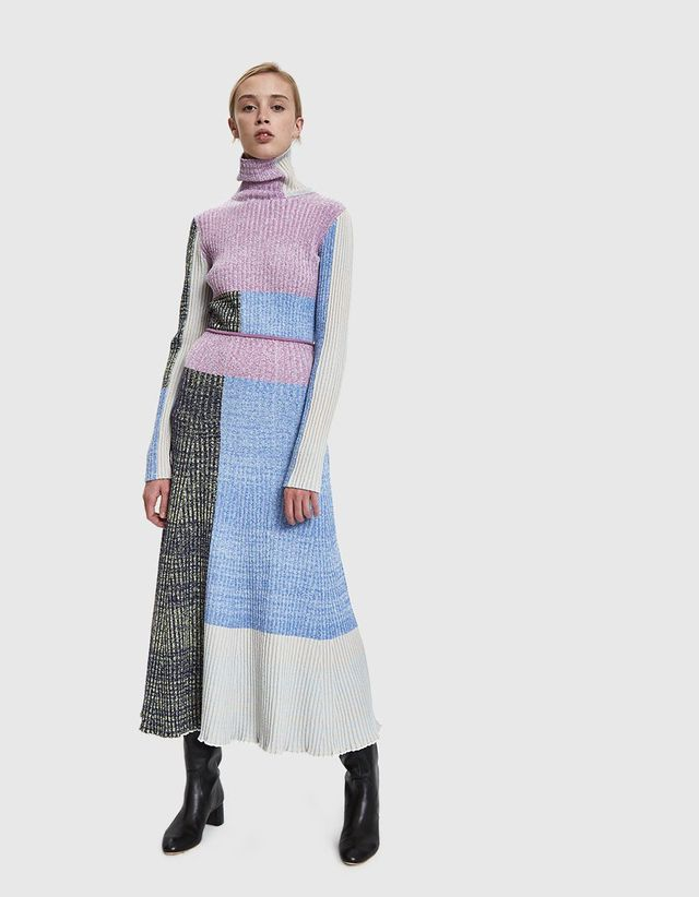 knit Patchwork pleated Skirts