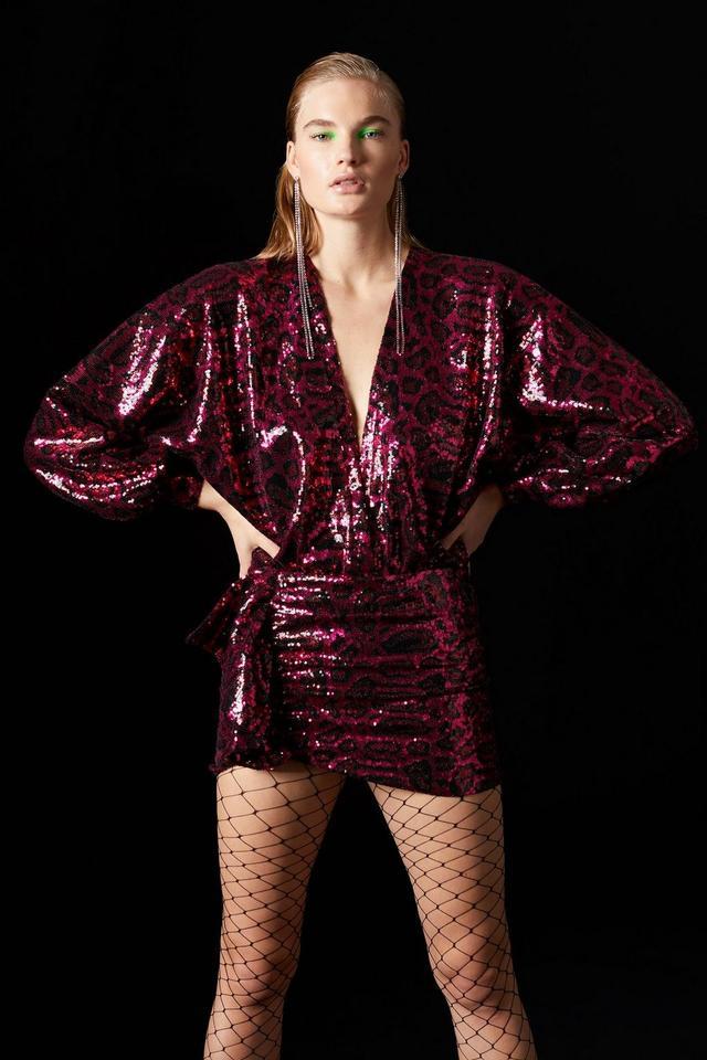 Topshop x Halpern Cheetah Skirt