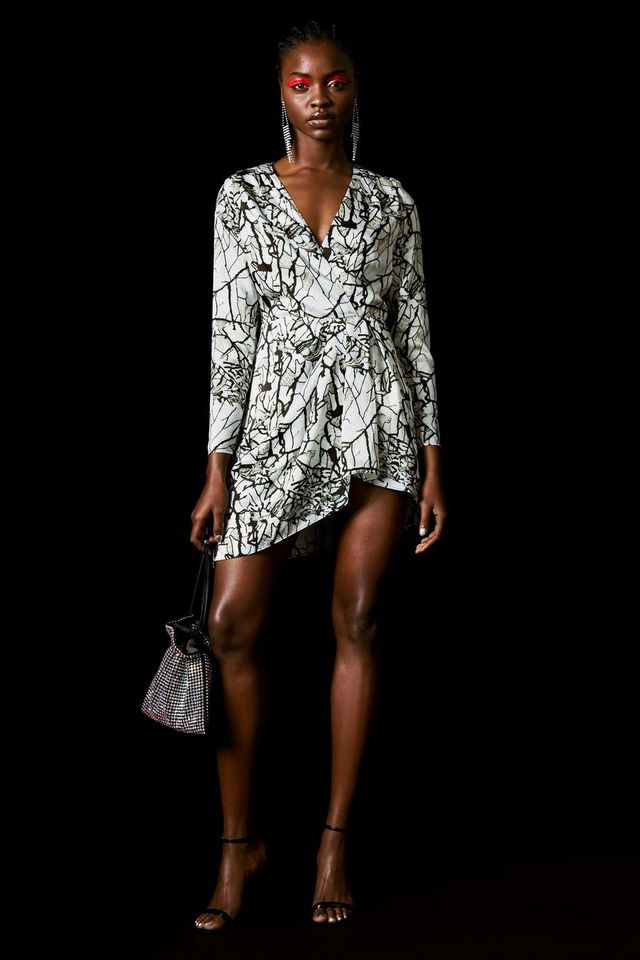 Topshop x Halpern Marble Effect Dress