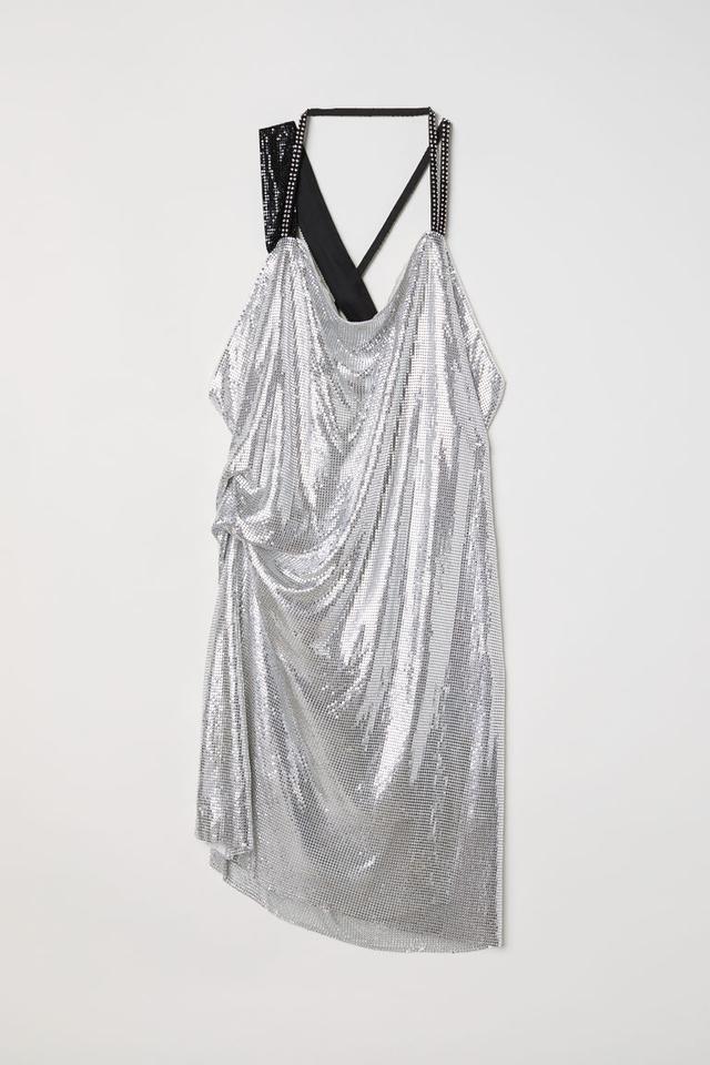H&M Draped Halterneck Dress