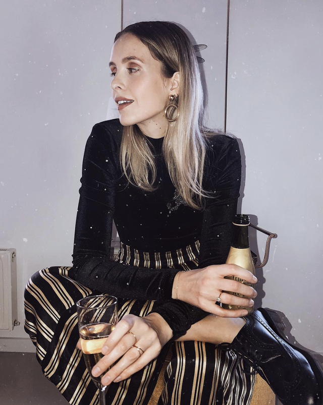 Trousers outfit for New Year's Eve